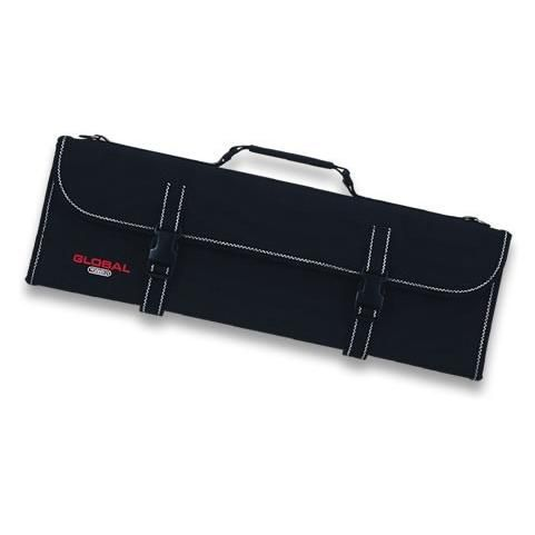 Global G-667/16 Knife case with zipper and shoulder strap for 17 knives