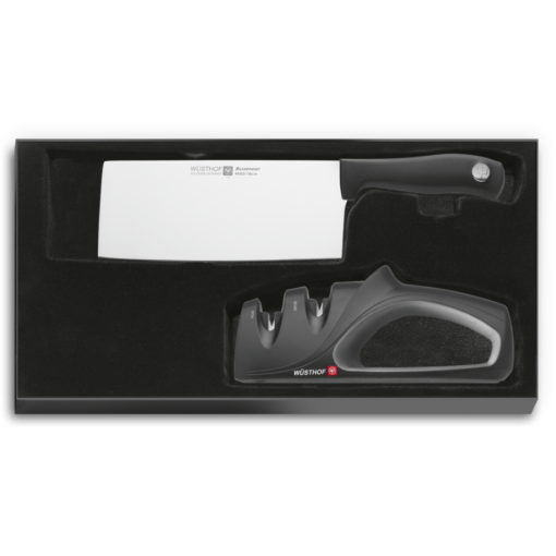 Wüsthof 9811 Silverpoint Chinese chef's knife + sharpener set